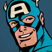 Marvel Comics - Captain America Close-Up - 40x40cm Canvas