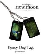 Twilight New Moon - Epoxy Dog Tags Jacob In Forest