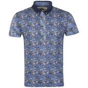 Bellfield Men's Nori All Over Print Polo Shirt - Moroccan Blue