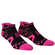 Compressport Pro Racing Socks - Run (LowCut) - Black/Pink