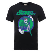 DC Comics Men's T-Shirt - Green Lantern Leap - Black