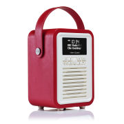View Quest Retro Mini Bluetooth DAB+ Radio - Red