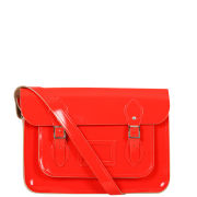 Cambridge Satchel Company 13 Inch Leather Satchel  - Chinese Red Patent