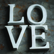 Nkuku Distressed Mango Wood Letters - Distressed White - A (15cm)