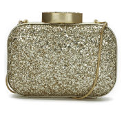 Lulu Guinness Glitter Flossie Clutch Bag - Gold