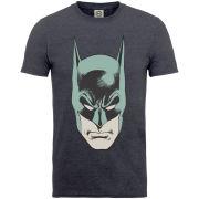 DC Comics Men's T-Shirt - Batman Head - Dark Heather