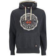 Crosshatch Men's Heyton Printed Hoody - Charcoal Marl