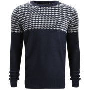 Brave Soul Men's Edward Jumper - Navy/White