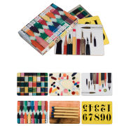 Eames Office House of Cards Mixed Placemats Set of 6