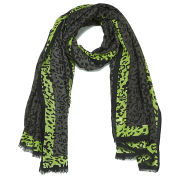 Paul's Boutique Marble Leopard Scarf - Grey/Yellow