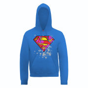 DC Comics Hoody Superman Splatter Logo - Royal Blue