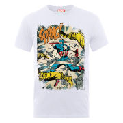 Marvel Captain America Spang Men's T-Shirt - White
