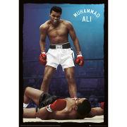 Muhammad Ali Knockout - Metallic Poster - 47x67cm