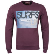 Osaka Men's Surfs Up Photo Print Crew Neck Sweatshirt - Brodex