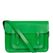 Cambridge Satchel Company 14 Inch Leather Satchel - Green