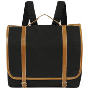 Kate Sheridan Coated Cotton Dora Rucksack - Black/Tan