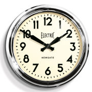 Newgate Giant Electric Clock - Chrome