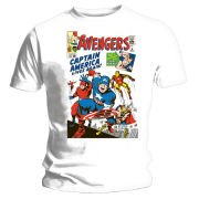 The Avengers: Issue 4 Classic Cover T-Shirt - White