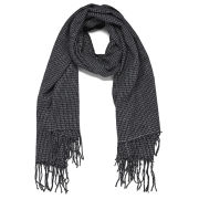 Vero Moda Women's Grid Long Scarf - Black