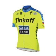 Tinkoff-Saxo Team Short Sleeve Jersey - Yellow