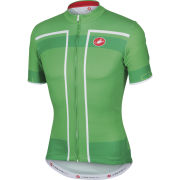 Castelli Velocissimo Full Zip Jersey - Green