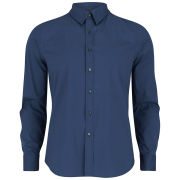 REPLAY Men's Stretch Poplin Shirt - Avion Blue