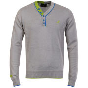 Kangol Men's Intel Fine Gauge Knit Jumper - Grey