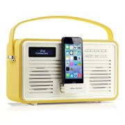 View Quest Colourgen Retro Radio and Dock - Mustard (8 Pin/Lightning) Grade A Refurb
