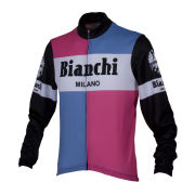 Bianchi Men's Bagheira Long Sleeve Full Zip Jersey - Black/Pink/Blue