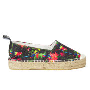 Love Moschino Women's Slip On Printed Espadrilles - Black Multi