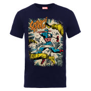 Marvel Captain America Spang Men's T-Shirt - Navy