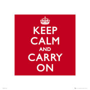 Keep Calm And Carry On - 40 x 40cm Print