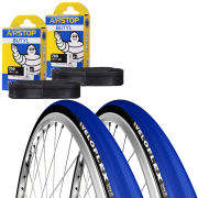 Veloflex Corsa 23 Clincher Road Tyre Twin Pack with 2 Free Inner Tubes - Blue 700 x 22c