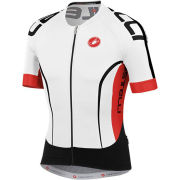 Castelli Aero Race 5.0 Jersey - White/Red/Black