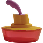 Alessi Ship Shape Butter Dish - Orange