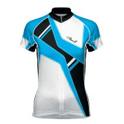 Primal Vangarde Women's Evo Short Sleeve Jersey - White/Blue/Black