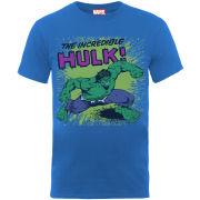 Marvel Men's T-Shirt Incredible Hulk - Royal Blue