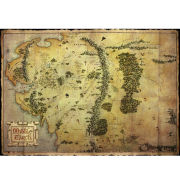 The Hobbit Map - Metallic Poster - 47 x 67cm
