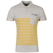 Boxfresh Men's Kaashiff Striped Polo Shirt - Grey Marl