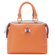Paul's Boutique Women's Violet Block Colour Padlock Mini Bowler Bag - Orange