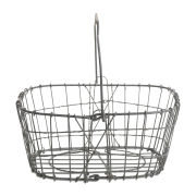Nkuku Lamu Metal Basket - Grey Iron