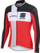 Sportful Gruppetto Men's Long Sleeved Thermal Jersey - Red/White/Grey