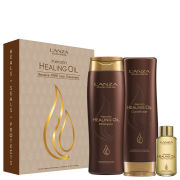 L'Anza Keratin Healing Oil Trio Box Includes Bag