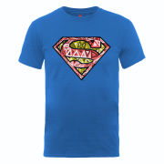 DC Comics Men's T-Shirt - Superman Cells Logo - Royal Blue