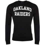 Majestic Men's Raiders Keeler Crew Neck Sweatshirt - Black