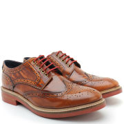 Base London Men's Woburn Brogue - Hi Shine Tan