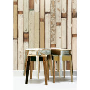 NLXL Scrapwood Wallpaper by Piet Hein Eek - Cream/Beige/Brown/Light Green