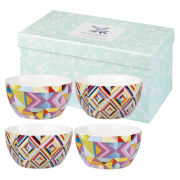 Collier Campbell Kandi and Quicksilver Set of 4 Bowls