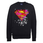 DC Comics Sweatshirt - Superman Splatter Logo - Black