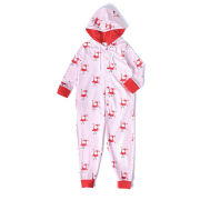 Girls' Holly Christmas Onesie - Pink